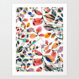 Plants abstratc Art Print