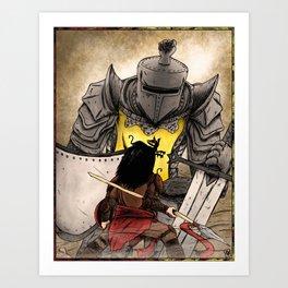 Oberyn vs Gregor Art Print
