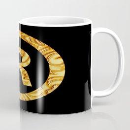 """R"" Golden decorative letter Coffee Mug"