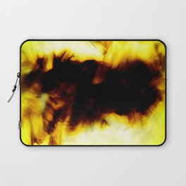 Hole In My Heart Black White Yellow Abstract Laptop Sleeve