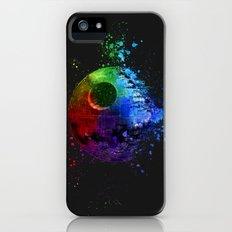 Death Star Splash Painting iPhone SE Slim Case