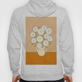 bouquet of white camomiles in the vase Hoody