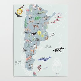 ARGENTINA ILUSTRADA Poster