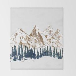 mountains 9 Throw Blanket