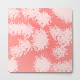 Vivid Tangerine Splatter Metal Print