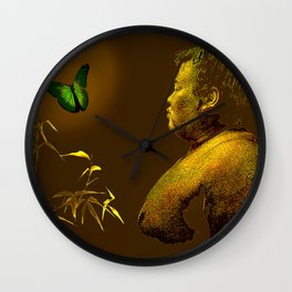 The short-lived life of the butterfly and the sumo wrestler Wall Clock