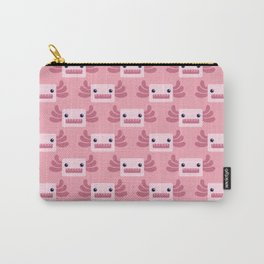 Cute Pastel Pink Axolotls Pattern Carry-All Pouch