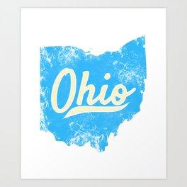 Ohio Gift I Love My Ohio Home Cleveland Cincinnati Akron OH Art Print