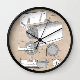 patent art Morgan Toilet paper fixture 1892 Wall Clock