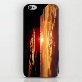 Ground Level Sunset iPhone Skin