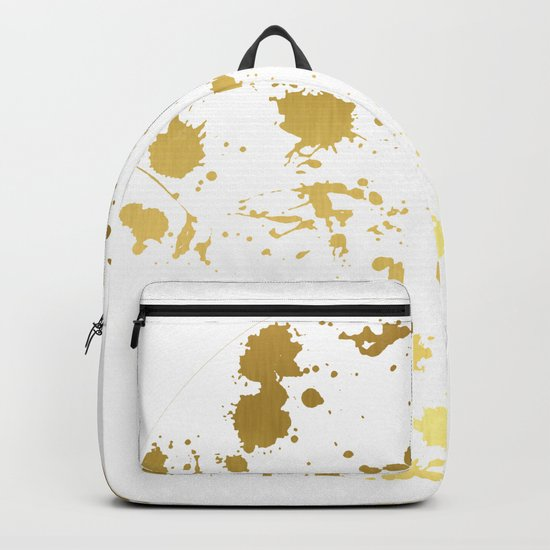 Golden abstract Backpack
