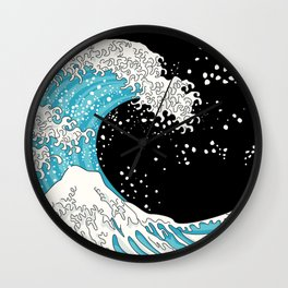 The Great Wave (night version) Wall Clock