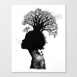Natural Black Woman Canvas Print