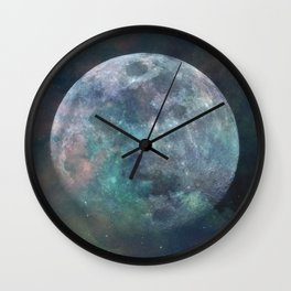 Solstice Moon Wall Clock