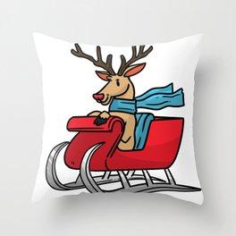 Sled snowmobile gift snow Christmas Throw Pillow