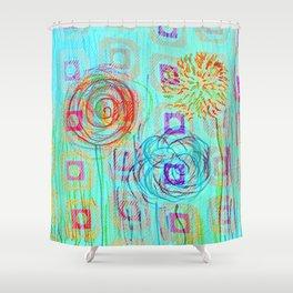 Dandilions Shower Curtain