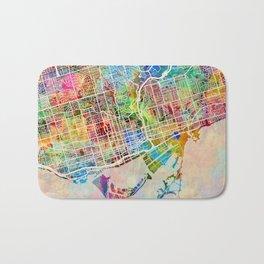 Toronto Street Map Bath Mat