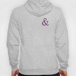 Ampersand - Black and Pink Dark Hoody
