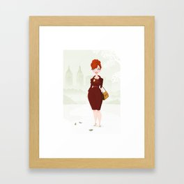 Joan Holloway Framed Art Print