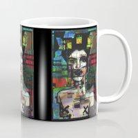 ariana grande Mugs featuring Grande gueule by brett66