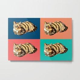 Cats pop art Metal Print