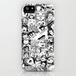Ahegao Hentai Girls Anime Collage iPhone Case