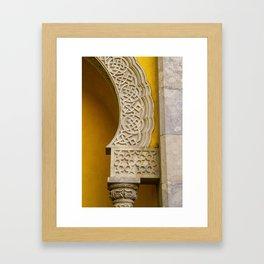 Yellow Arch Framed Art Print