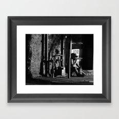 Homeless in Salem Framed Art Print