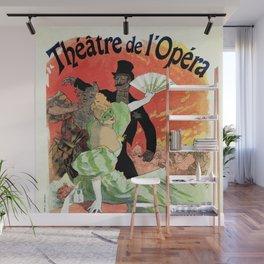 Paris Carnival 1896 Opera Theatre advert, Jules Chéret Wall Mural