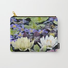 Colorful hellebore flowers Carry-All Pouch