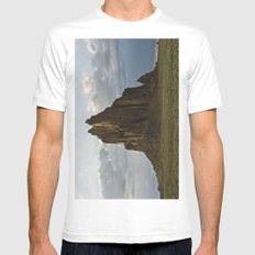 Shiprock, New Mexico. MEDIUM White Mens Fitted Tee