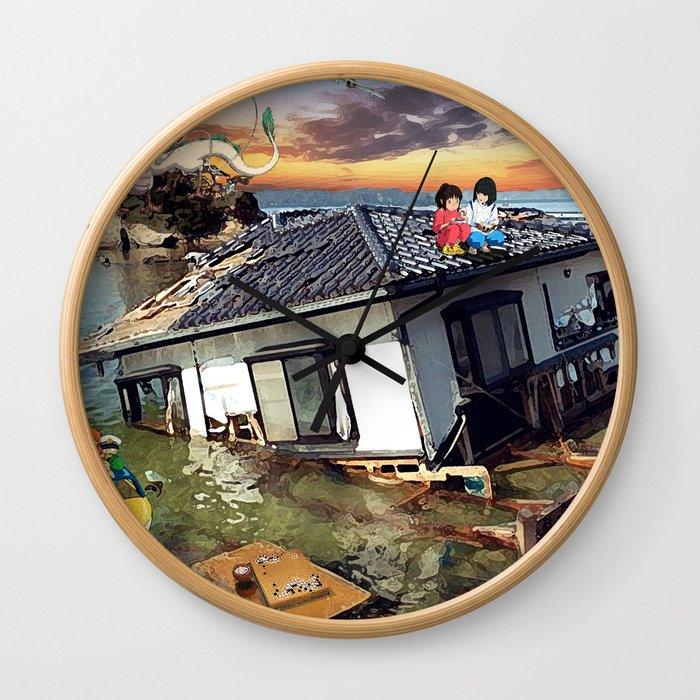 Beyond the Sea - Spirited Away / Ponyo Tsunami Series Wall Clock