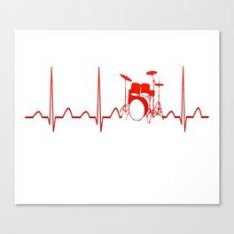 DRUMS HEARTBEAT Canvas Print