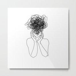 Migraine - White Metal Print