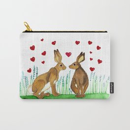 Hares in Love Carry-All Pouch