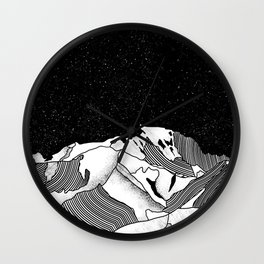 Mont Blanc Wall Clock