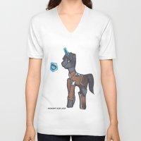 levi V-neck T-shirts featuring Levi Ackerman by Midnight Zoe