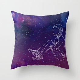 Galaxy Boy Throw Pillow