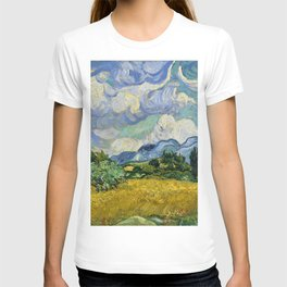 Classical Masterpiece 'Wheat Field with Cypresses' by Vincent van Gogh T-shirt