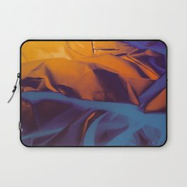 Orange, Purple and Blue Abstract. Mixed Media. Laptop Sleeve