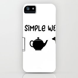 Religious Simple Woman iPhone Case