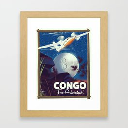 Congo To Adventure! travel poster Framed Art Print
