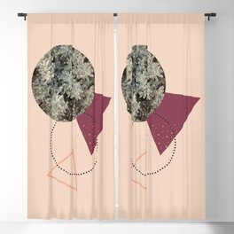 Golden Snow #society6 #decor #pink Blackout Curtain