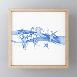 MY BLUE SKY Framed Mini Art Print