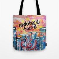 architect Tote Bags featuring Architect Heart by Anwar B