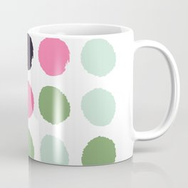 Painted dots minimal colorful pattern polka dots nursery baby decor Coffee Mug