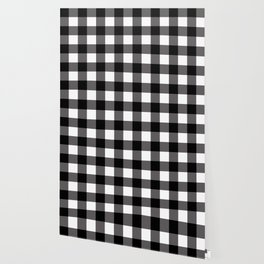 Black & White Buffalo Plaid Wallpaper