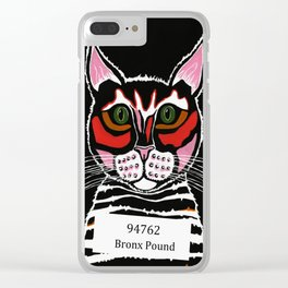 Cat Mug Shot Clear iPhone Case