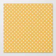 mustard yellow triangle pattern Canvas Print