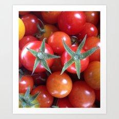 Garden Series - Bright Red Cherry Tomatoes Art Print